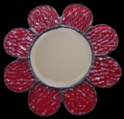 Red flower mirror SH129